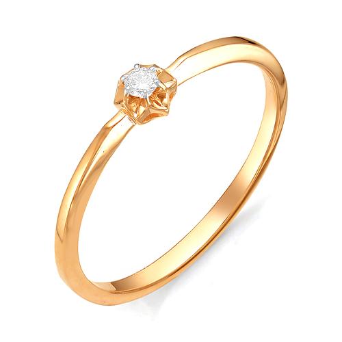 Кольцо с бриллиантом кл1-106-212 К-Б