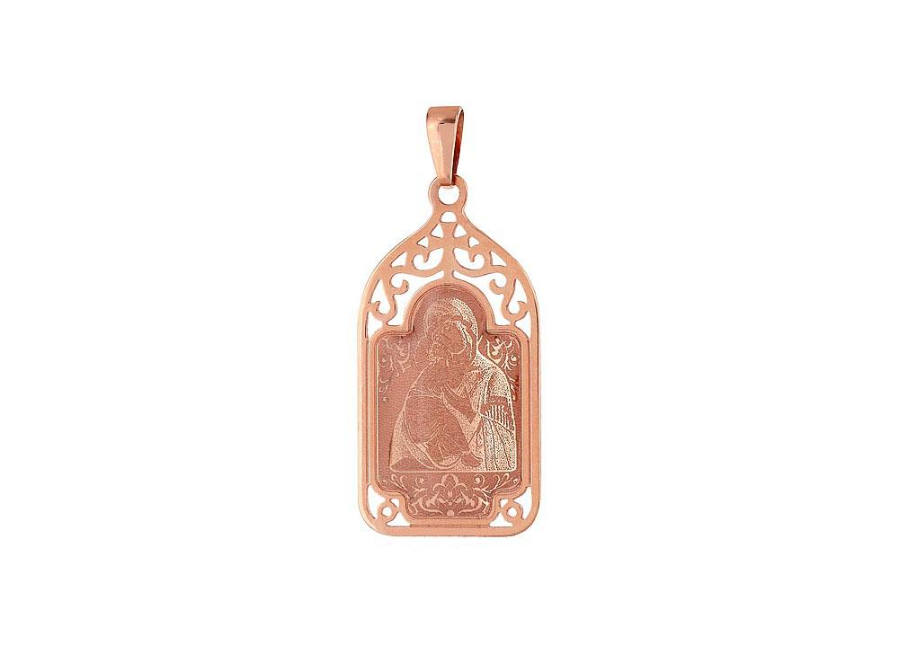 Икона с лазерной гравировкой и холодной эмалью 103601 Владимирская