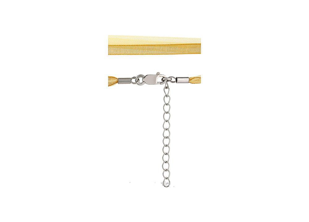 Шнурок из органзы NL11160-золотой