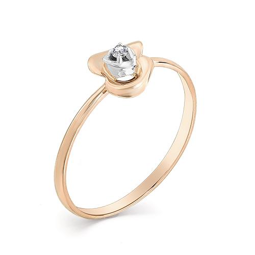 Кольцо с бриллиантом  кл1-107-214 К-Б