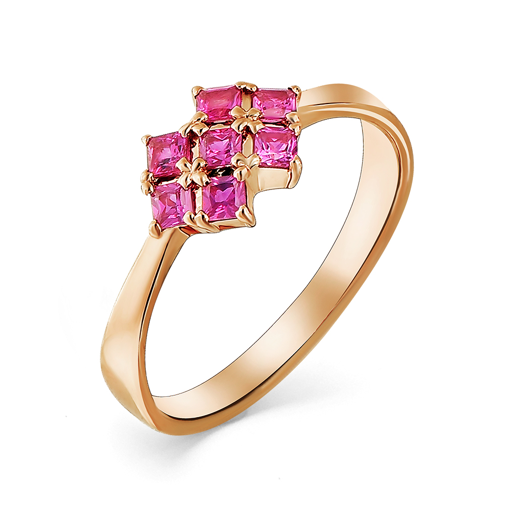 Кольцо с рубином кл1-107-481-03 К-Р