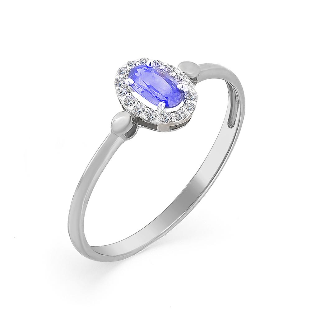 Кольцо с сапфиром и бриллиантоми  кл1-107-312-01 С-Б