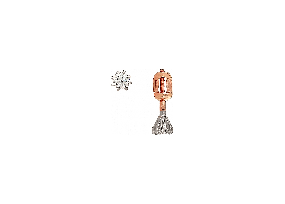 Пуссеты с бриллиантами ПСЛ-252К-Б-340-45